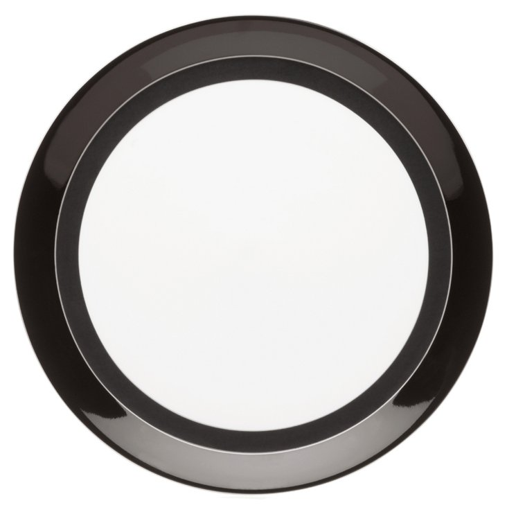 S/4 Circle Chic Chargers, Black