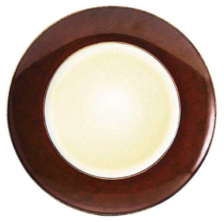 S/6 Round Salad Plates, Red