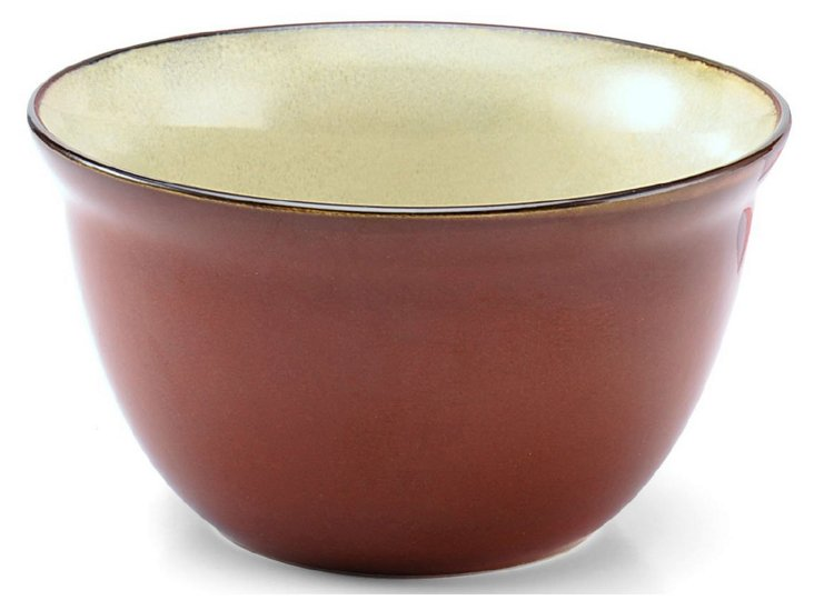 S/6 Soup Bowls, Red