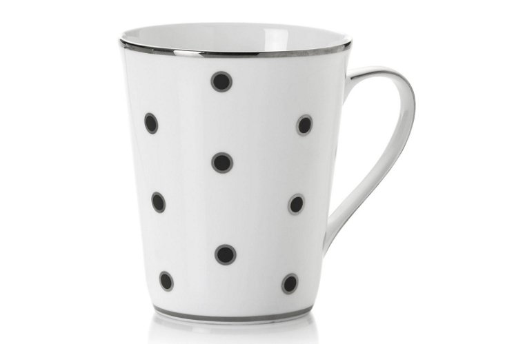 S/4 Dots Mugs, Black/Silver