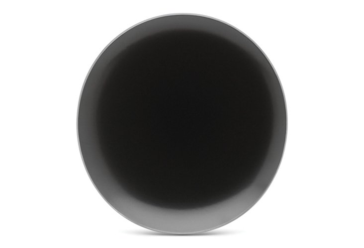 S/4 Curve Dinner Plates, Black