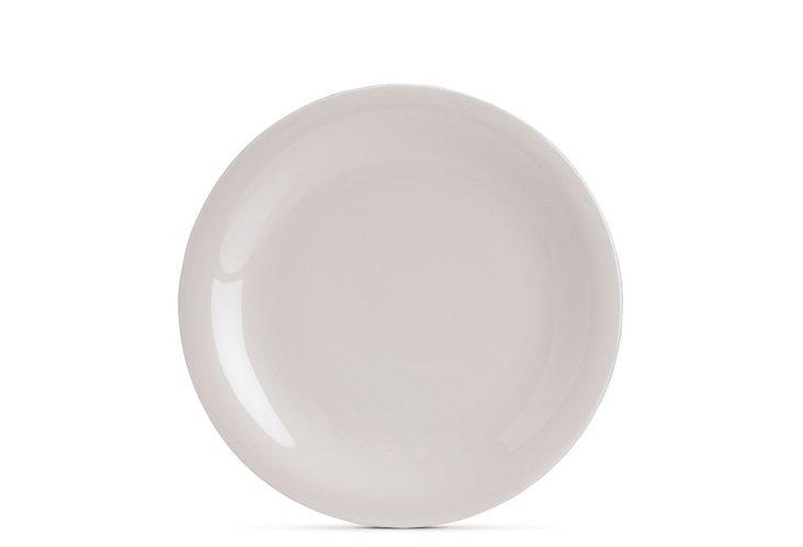 S/4 Sleek Salad Plates, White