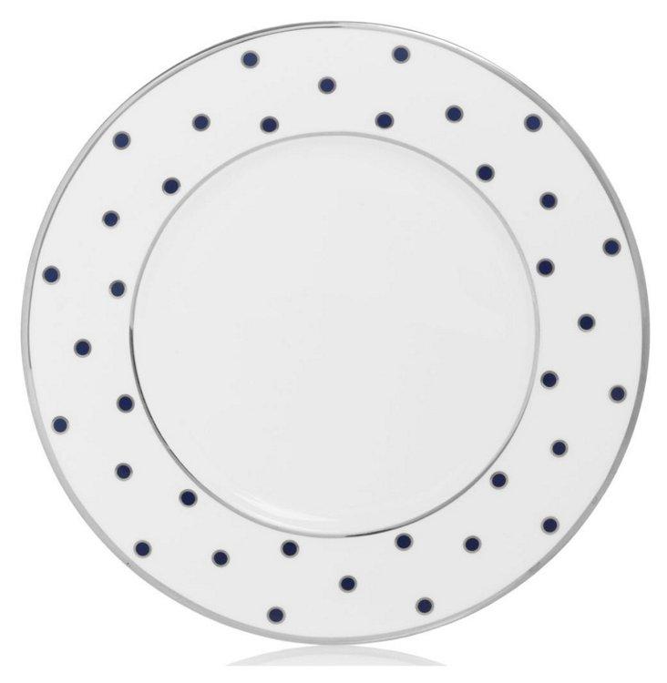 S/4 Dots Accent Plates, Blue