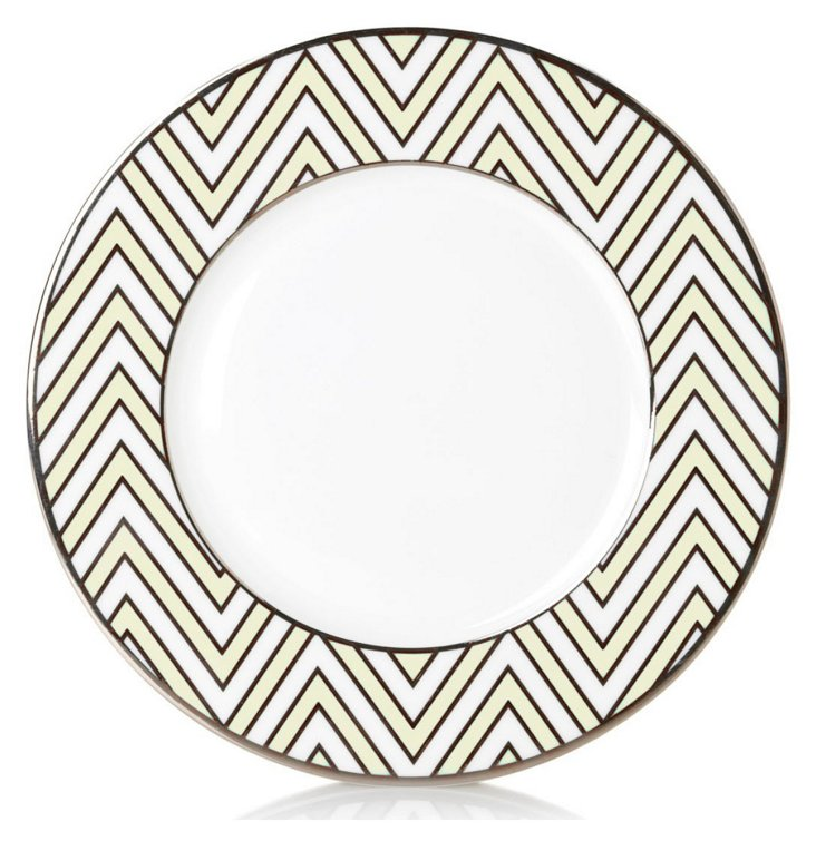 S/4 Zigzag Accent Plates, Ivory