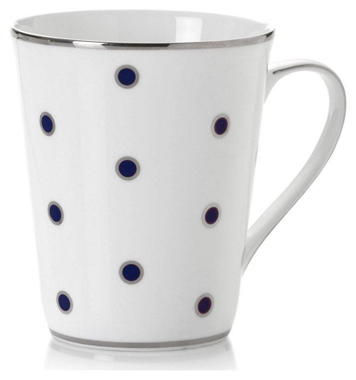 S/4 Dots Mugs, Blue/Silver