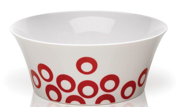 Circle Chic Bowl, Red