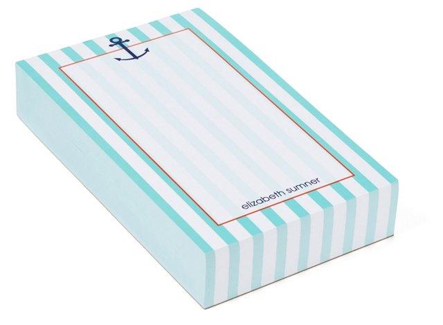 Custom Anchor Chunky Notepad, Ocean