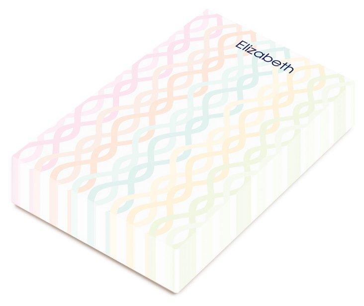 Custom Trellis Chunky Notepad, Multi