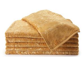 S/6 Joy Bath Towels, Gold