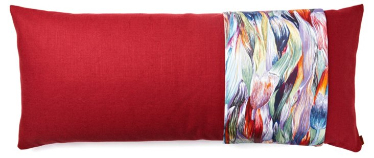 Jer 14x31 Pillow, Red/Multi