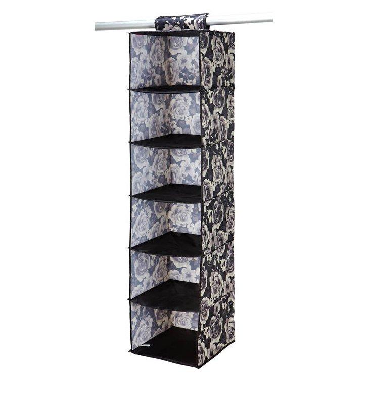 6-Shelf Hanging Organizer, Floral