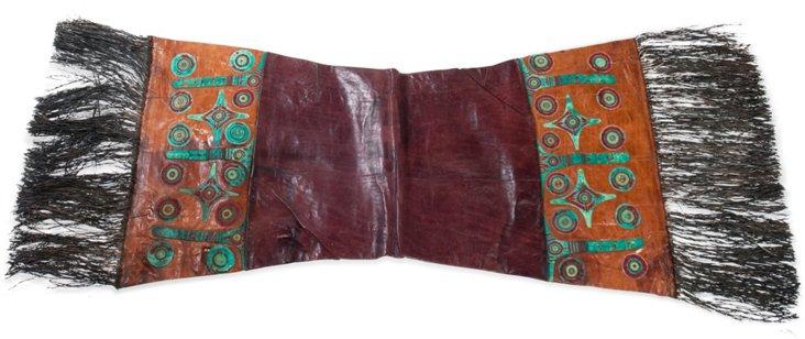Tuareg Leather Pillow Sham