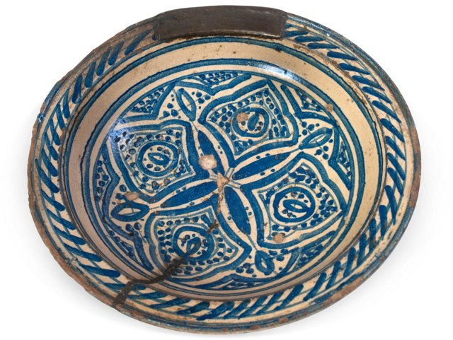 Antique Moroccan Stoneware Charger III