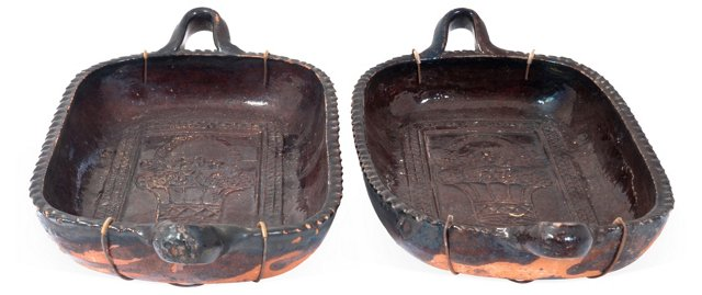 Vintage Mexican Trays, Pair
