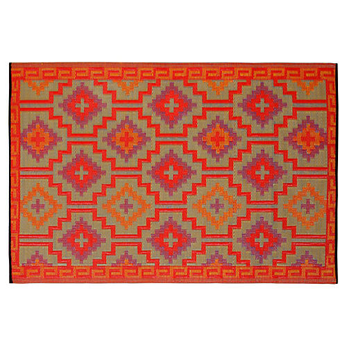 Darion Outdoor Rug, Red