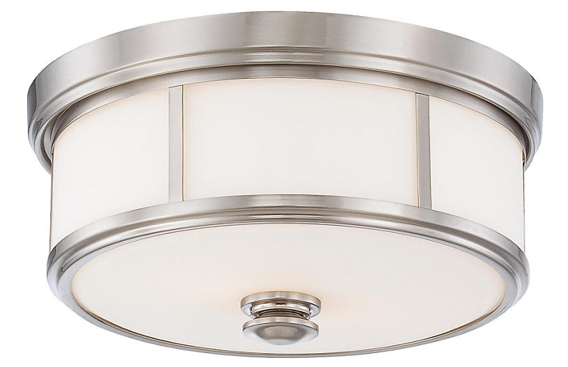Harbour 2-Light Flush Mount, Nickel