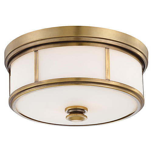 Harbour Point Flush Mount, Gold