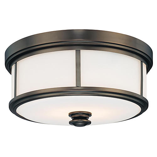 Harbour 2-Light Flush Mount, Bronze