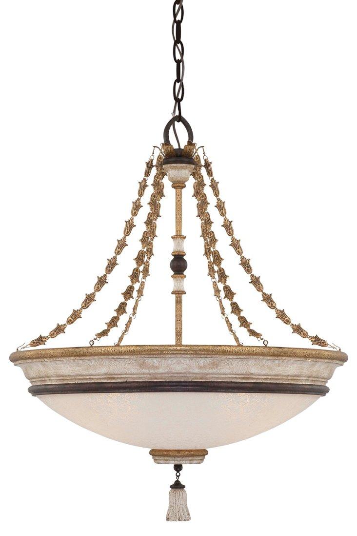 Provence 4-Light Pendant, Patina