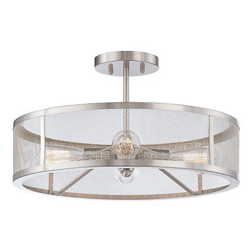 Bridget 4-Light Semi-Flush Mount, Nickel