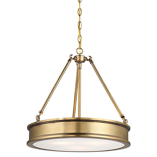 Harrison 3-Light Pendant, Gold