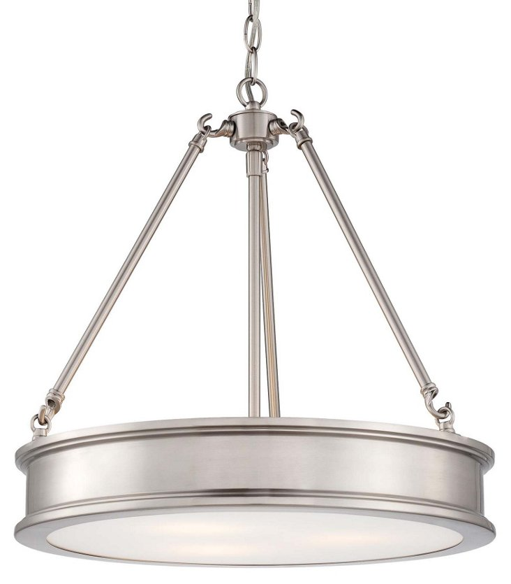 Harrison 3-Light Pendant, Nickel