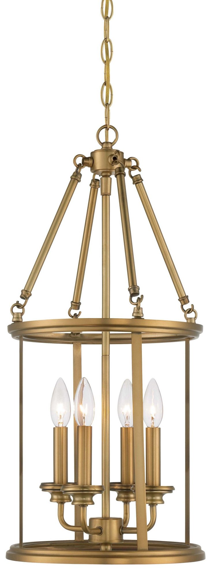 Camille 4-Light Foyer Lantern, Gold