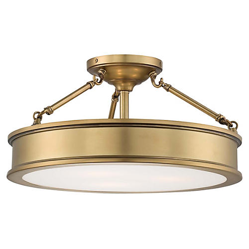 Daria 3-Light Semi-Flush Mount, Gold