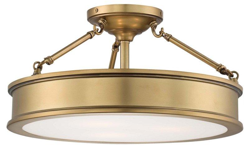Daria 3 light semi flush mount gold semi flush mounts flush mounts ceiling lights fans lighting one kings lane