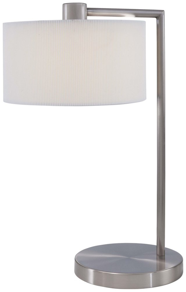 Wallace Table Lamp, Brushed Nickel
