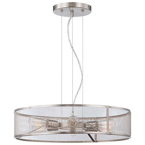 Betty 6-Light Pendant, Nickel