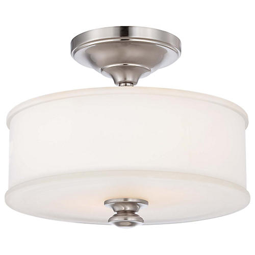 Billy 2-Light Semi Flush, Nickel