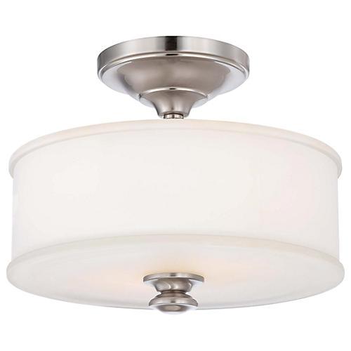 Billy 2-Light Semi Flush, Nickel