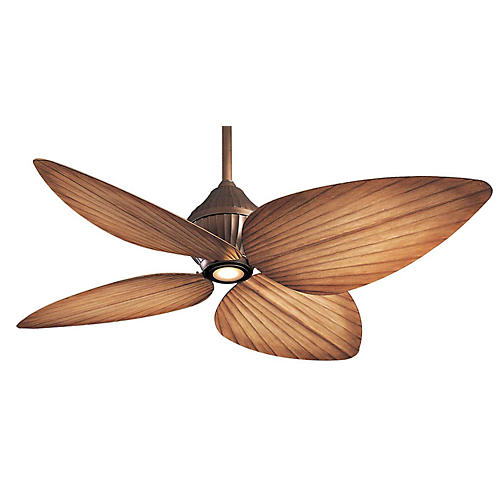 Aire Gauguin Ceiling Fan Light Fixture, Bronze