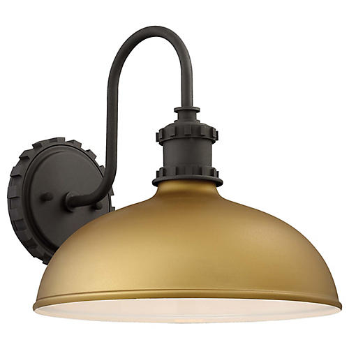 Escudilla Outdoor Sconce, Honey Gold