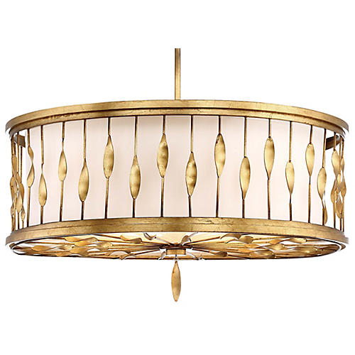 Olivetas 5-Light Pendant, Terrace Gold