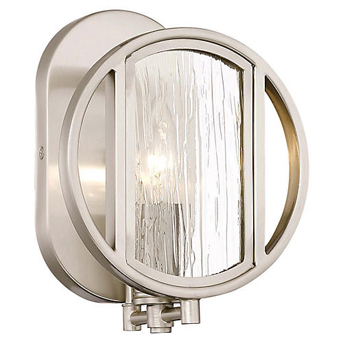 Via Capri Sconce, Brushed Nickel