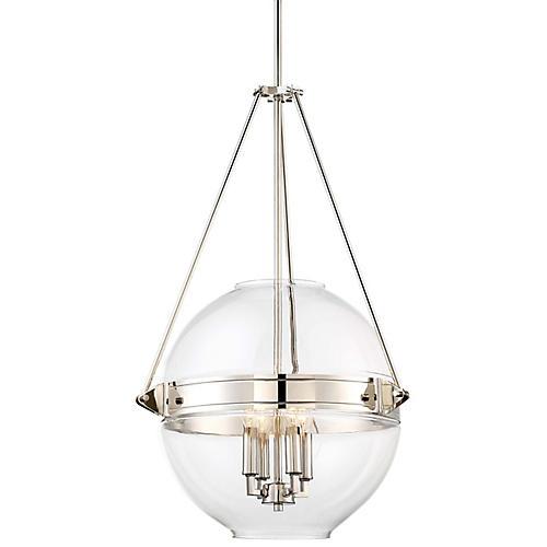 Atrio 4-Light Globe Pendant, Polished Nickel