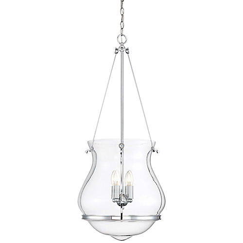 Atrio 4-Light Pendant, Chrome