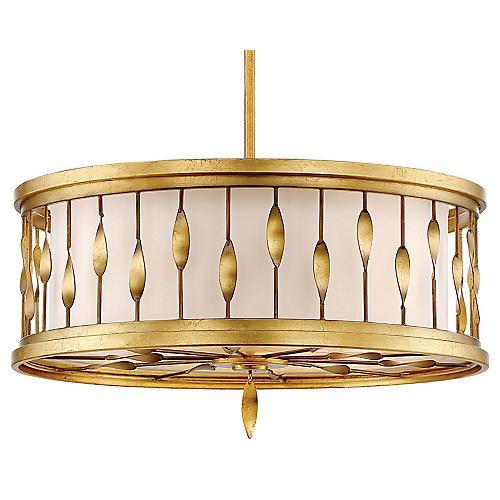 Olivetas 3-Light Pendant, Terrace Gold