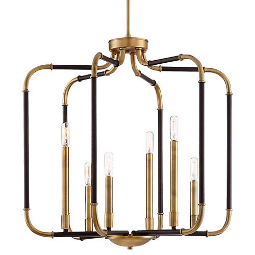 Liege Wide Pendant, Kinston Bronze/Brass