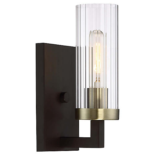 Ainsley Court Sconce, Bronze/Brass