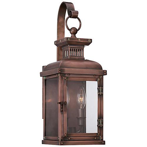 Copperton Lantern Sconce, Copper