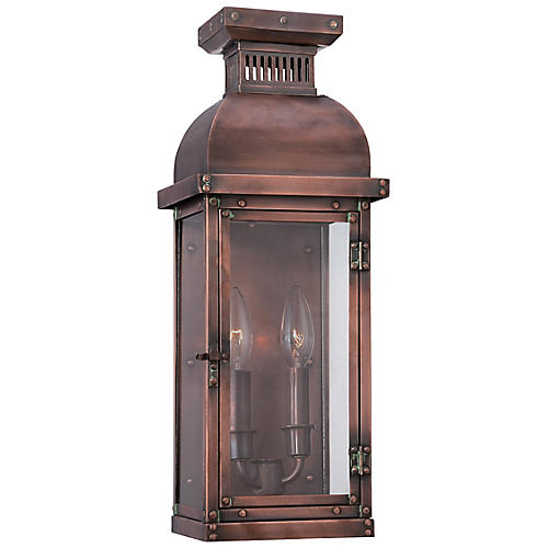 Copperton 2-Light Sconce, Copper