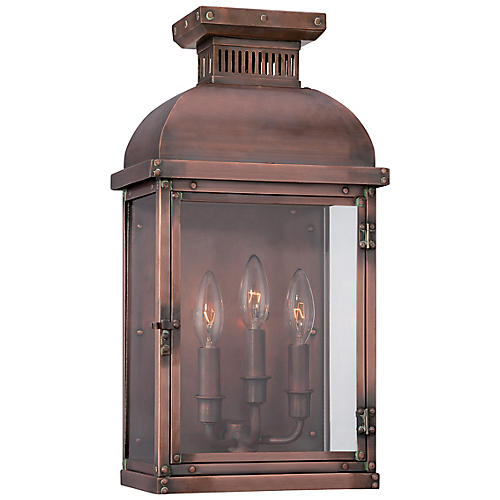 Copperton 3-Light Sconce, Copper