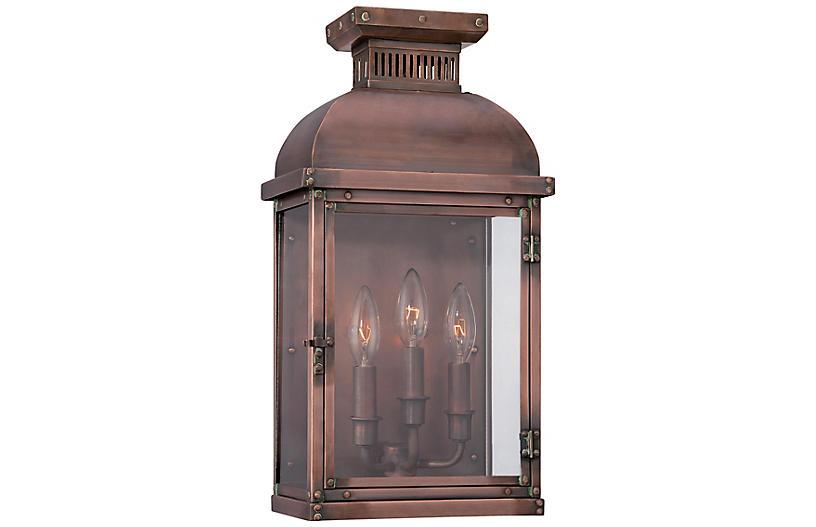 Copperton 3-Light Sconce, Copper