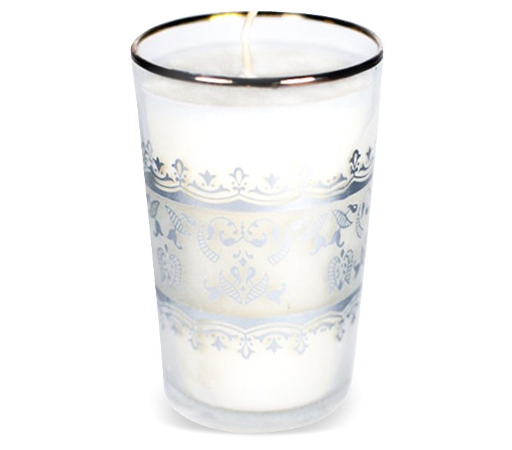 Gold Lace Moroccan Candle, Set of 2