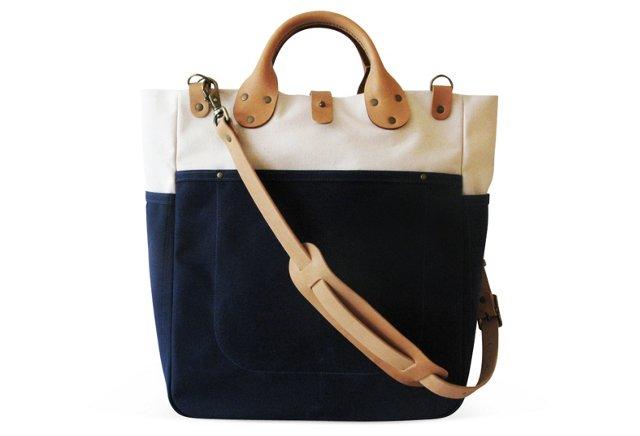 Garrison Bag, Natural/Navy