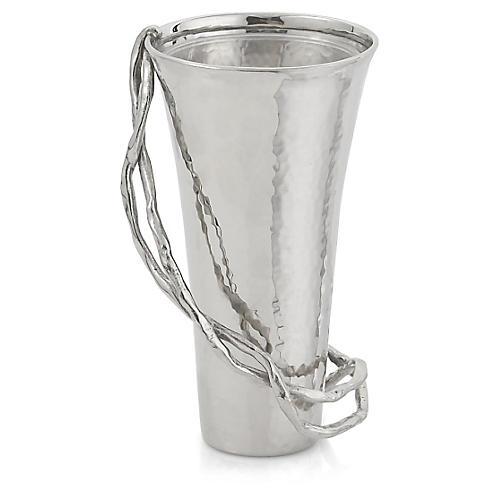 """6"""" Wisteria Vase, Silver"""