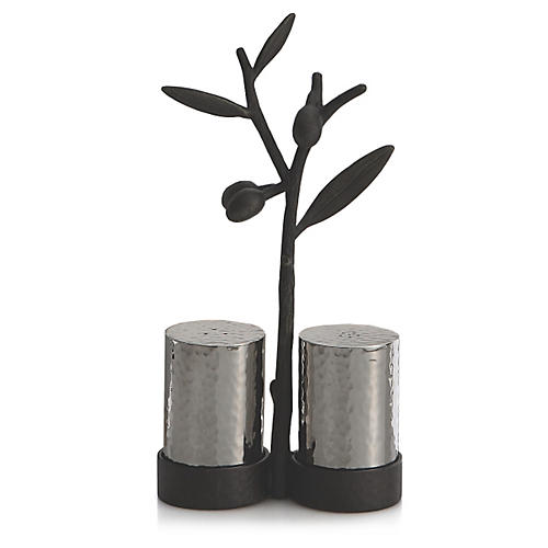 Olive Branch Salt & Pepper Shakers